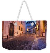 Calcada Da Gloria Street At Dusk In Lisbon Weekender Tote Bag