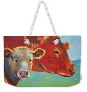 Calf And Cow Painting Weekender Tote Bag