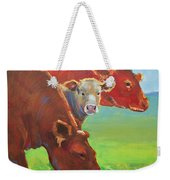 Calf And Cows Painting Weekender Tote Bag