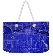 Calgary Street Map - Calgary Canada Road Map Art On Colored Back Weekender Tote Bag