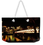 Calgary's Peace Bridge Weekender Tote Bag
