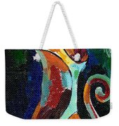 Calico Cat Abstract In Moonlight Weekender Tote Bag