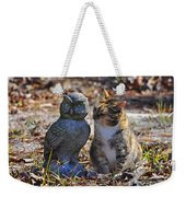 Calico Cat And Obtuse Owl Weekender Tote Bag by Al Powell Photography USA