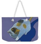 Calico On Purple Weekender Tote Bag
