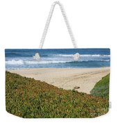 California Beach With Ice Plant Weekender Tote Bag by Carol Groenen