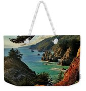 California Coastline Weekender Tote Bag