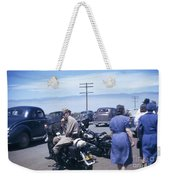 California Highway Patrol Harley Davidson Circa 1948 Weekender Tote Bag