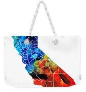 California - Map Counties By Sharon Cummings Weekender Tote Bag