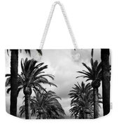 California Palms - Black And White Weekender Tote Bag