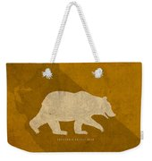 California State Facts Minimalist Movie Poster Art  Weekender Tote Bag