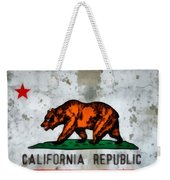 California State Flag Weathered And Worn Weekender Tote Bag