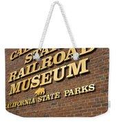 California State Railroad Museum Weekender Tote Bag