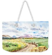 Californian Landscape Saint Johns Ranch Of Mountain Shasta County Weekender Tote Bag