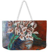 Calla Lilies And Frog Weekender Tote Bag