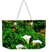 Calla Lilies Vertical Weekender Tote Bag