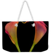 Calla Lillies Kissing Weekender Tote Bag