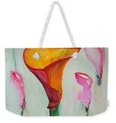 Calla Lilly Weekender Tote Bag