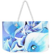 Calla Lilly So Soft Lilac And Blue Weekender Tote Bag