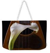 Calla Lily And Mandolin Weekender Tote Bag
