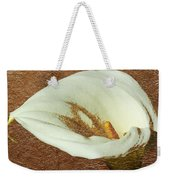 Calla Lily Gold Leaf Weekender Tote Bag