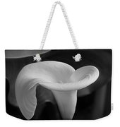 Calla Lily In Black And White Weekender Tote Bag