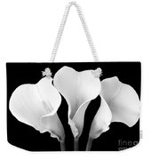 Calla Lily Trio In Black And White Weekender Tote Bag