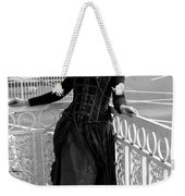 Calley In The Corner Black And White Weekender Tote Bag