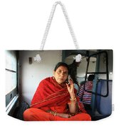 Calling From The Train Weekender Tote Bag