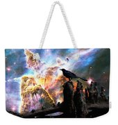 Calling The Night - Crow Art By Sharon Cummings Weekender Tote Bag
