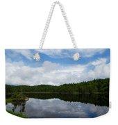 Calm Lake - Turbulent Sky Weekender Tote Bag