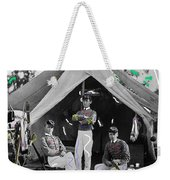 Calvary Troopers On Bivouac Tent Date Unknown Image Restored Color Added 2008  Weekender Tote Bag