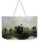 Calves At A Pond, 1863 Weekender Tote Bag
