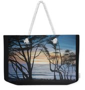 Cambria Cypress Trees At Sunset Weekender Tote Bag