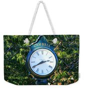 Cambria Square Time Clock Weekender Tote Bag