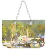 Camden Harbor Maine Weekender Tote Bag by Carol Leigh