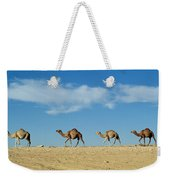 Camel Train Weekender Tote Bag