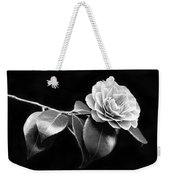 Camellia Flower In Black And White Weekender Tote Bag by Jennie Marie Schell