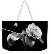 Camellia Flower In Black And White Weekender Tote Bag