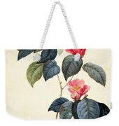 Camellia Japonica Weekender Tote Bag by Pierre Joseph Redoute