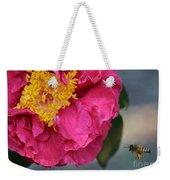 Camellia With Bee Weekender Tote Bag