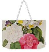 Camellias Narcissus And Pansies Weekender Tote Bag
