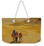 Camels Nuzzling On The Giza Plateau-egypt  Weekender Tote Bag