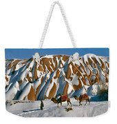 Camels On The Snow Weekender Tote Bag