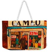 Cameo Dress Shop Weekender Tote Bag