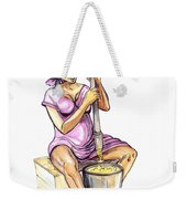 Cameroon Woman Grinding Plantain Bananas Weekender Tote Bag