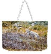 Camo Coyote Weekender Tote Bag
