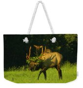 Camoflaged Elk With Shadows Weekender Tote Bag