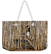 Camouflaged Canada Goose Weekender Tote Bag