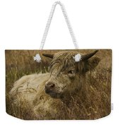Camouflaged Cow Weekender Tote Bag