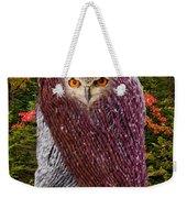 Camouflaged Owl Weekender Tote Bag